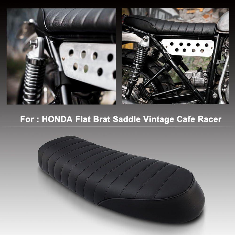 Flat Brat Saddle Cafe Racer Vintage Seat Cushion For Honda CB Yamaha SR US GN400