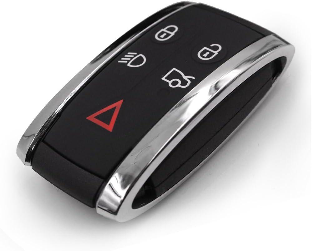 Car Smart Remote Key Case Shell Key Blank Uncut For JAGUAR X S-Type XF XK XKR