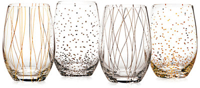 Mikasa Cheers Party Stemless Wine Glasses, Set of 4 - A Macy's Exclusive - Shop All Glassware & Stemware - Dining & Entertaining - Macy's