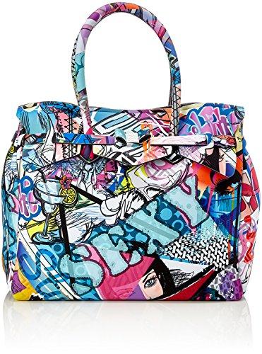 save my bag Miss 3/4, Borsa a Mano Donna, 39.5x34x19 cm (W x H x L) Multicolore (Graffiti)