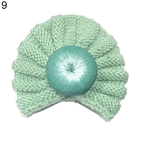 RYcoexs - Gorro de lana elástica para bebé recién nacido verde menta ...