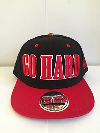 State Property  quot Go Hard quot  Fully Adjustable Snapback Baseball Cap  (Black and Red f61c32643231