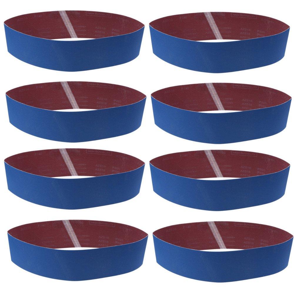 8PCS Sander Belt, 100mmX915mm WCIC Metal Grinding Sanding Belts Rust Sander Polishing Aluminum Oxide Sandpaper P80/120/150/180/240/320/800/1000 Grit