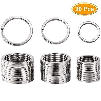 Amazon.com: Llavero con anillos divididos chapados en níquel ...