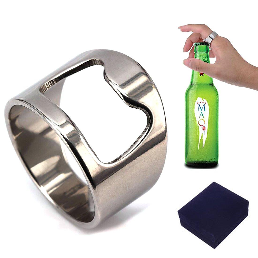 Handy Titanium Steel Bottle Opener Ring For Men Women (12)  Amazon.co.uk   Kitchen   Home 721fdbb3ea