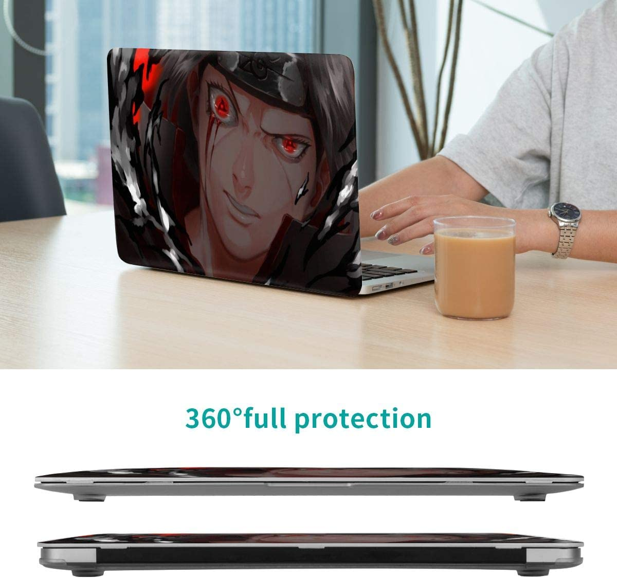 Anime Naruto Uchiha Itachi Laptop Case MacBook Non-Slip Durable Waterproof Plastic Hard Shell Case,for MacBook New Air 13//Air 13//15 Inch//Touch 13//15inch PVC Laptop Protective Cover touch13