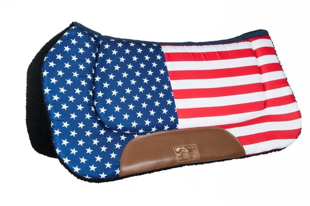HKM Sports Equipment HKM Western Westernpad -Stars & Stripes- Flag USA Vollblut/Warmblut