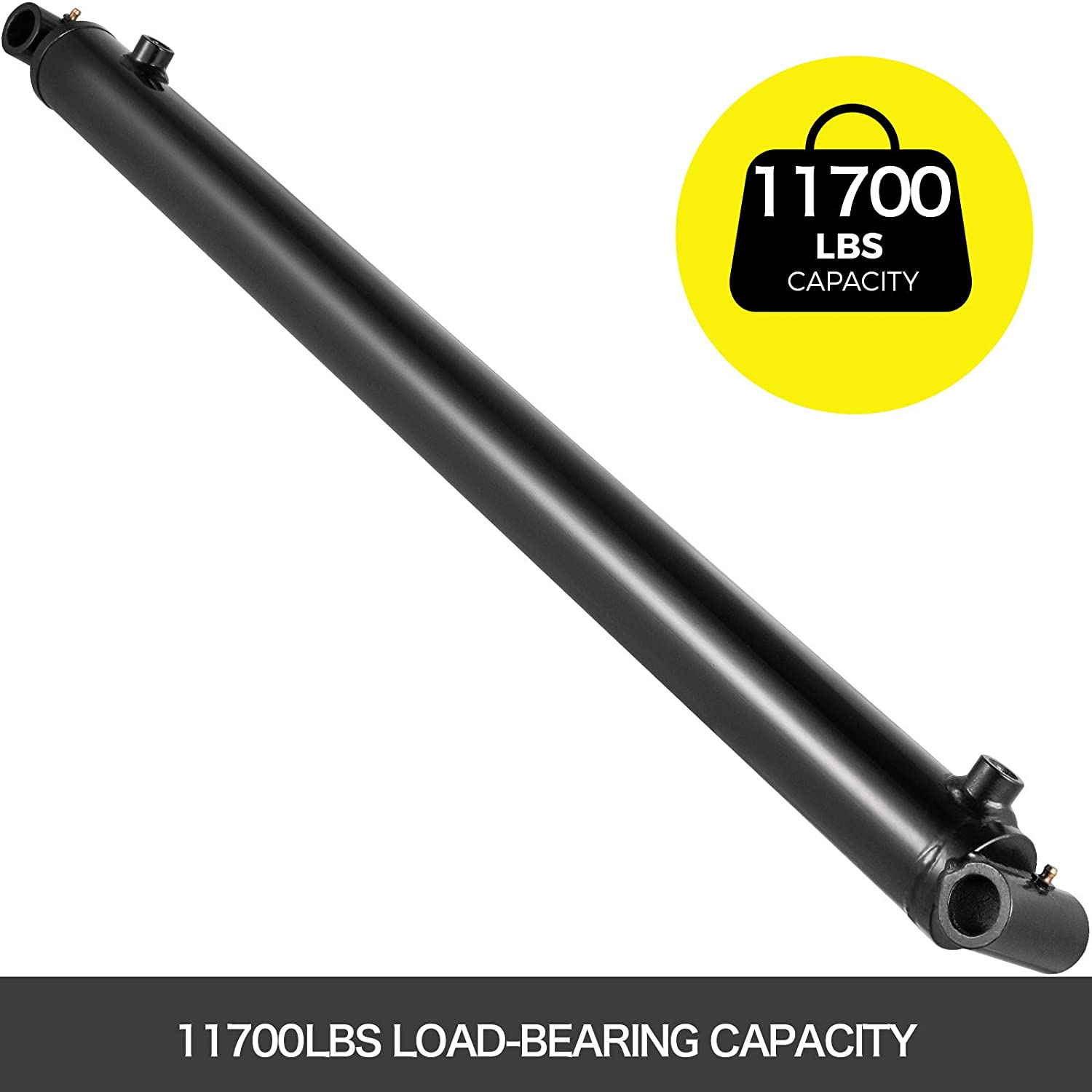 Bestauto Hydraulic Cylinder Welded Double Acting 2.5 Bore 30 Stroke Cross Tube 2.5 X 30
