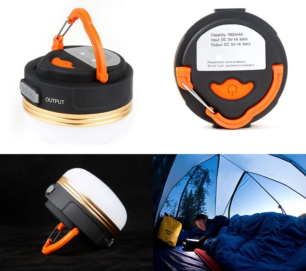 Magnetic de p/âtisserie Outdoor Camping Work Light sunsang portable USB rechargeable LED Camping Lantern Flash Light /& Power Bank