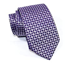"Boss Hugo Boss Geometric Italian Silk Tie, Purple 3"" (7.5 CM) 50268065"