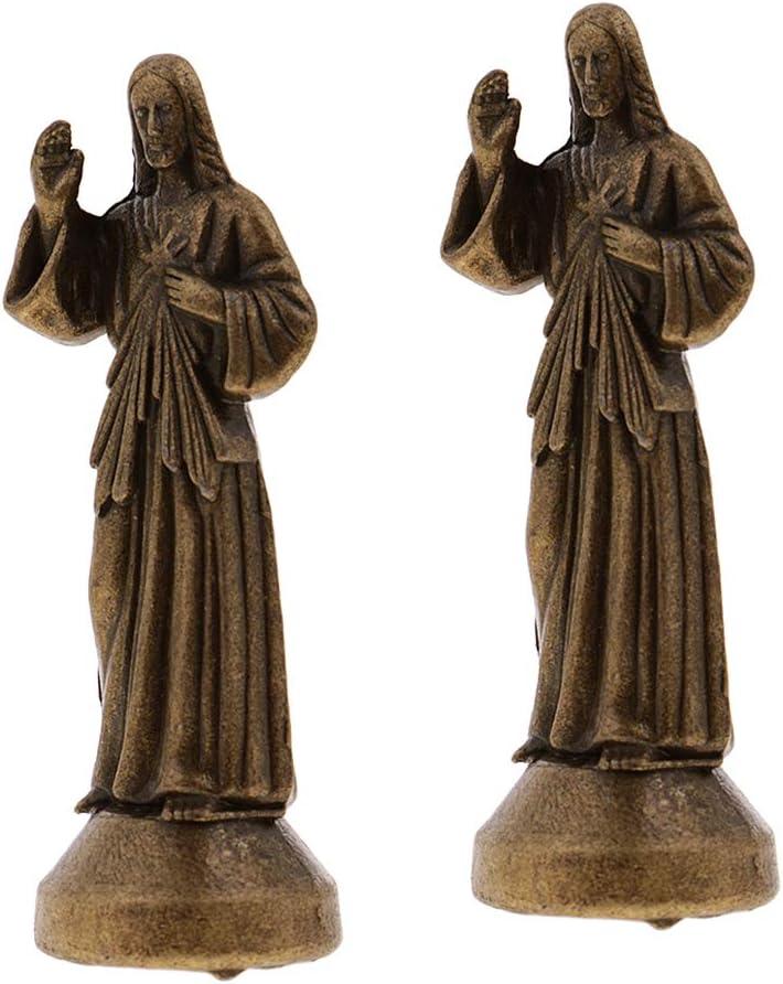 2pcs Bronzo 5cm non-brand 2//4//5//6 Pezzi Statuetta Religiosa Ges/ù Figura Sacra Decorazioni per Casa