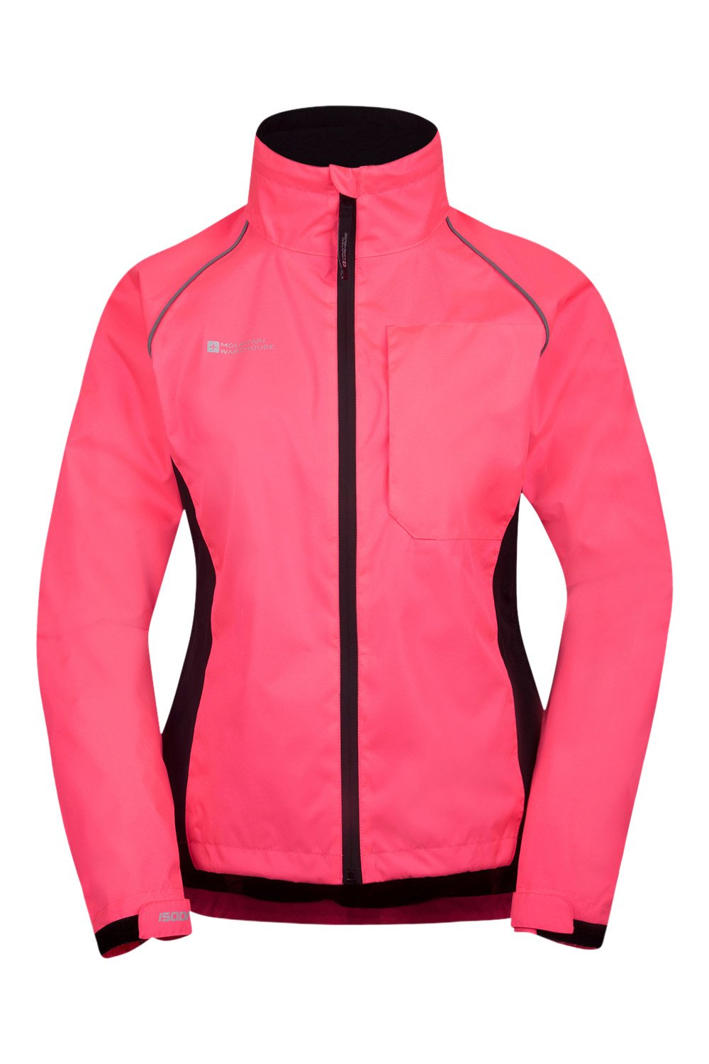 Mountain Warehouse Adrenaline Womens Jacket - Breathable Ladies Jacket, Taped Seams, Waterproof Raincoat, High Viz All Season Coat - For Cycling, Running
