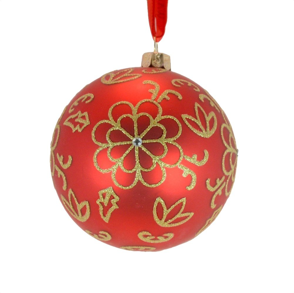 Amazon.com: Waterford Holiday Heirlooms Red Flower Burst Glass ...