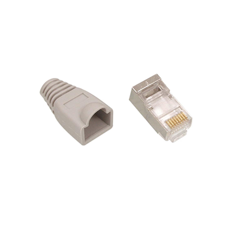 10x Rj45 Cat6 Ftp Stp Cable End Crimp Plugs 8p8c Connectors Order Of The Bath Cat5 And Network Ethernet Computers Accessories