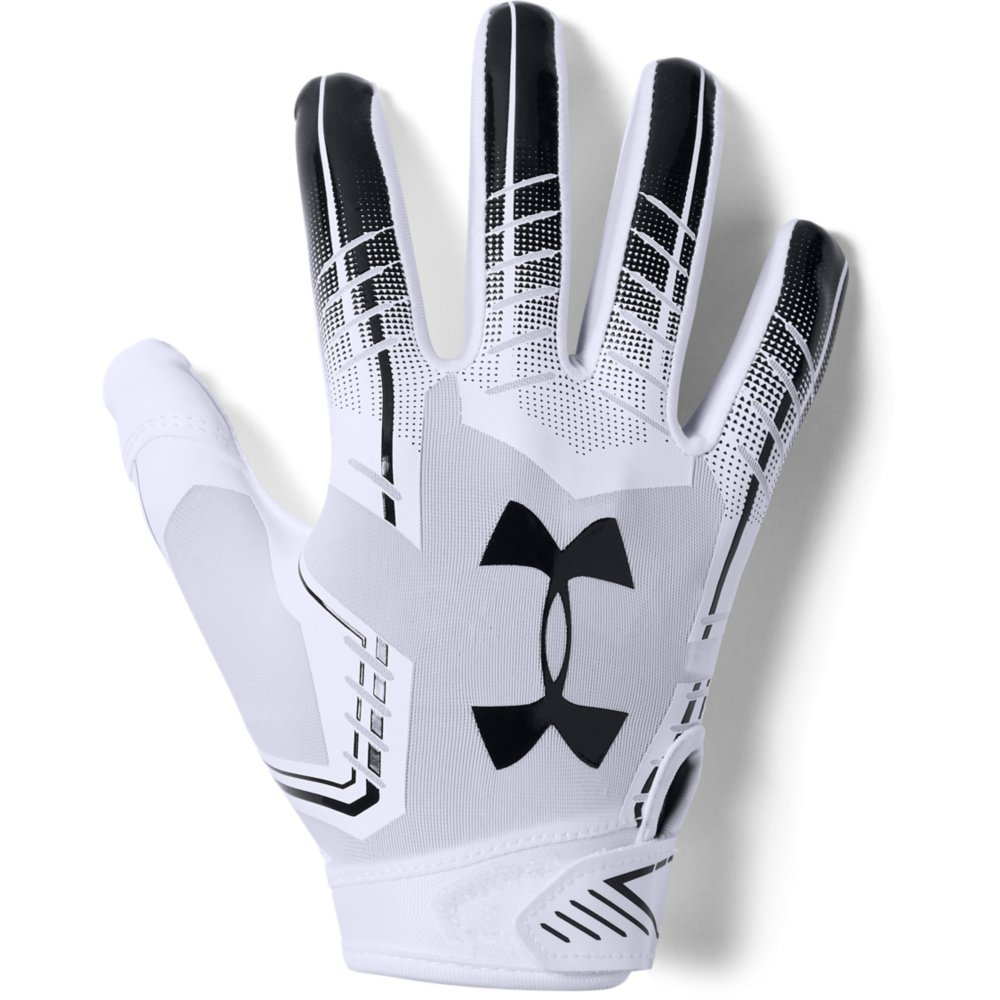 Under Armour boys F6 Youth Football Gloves White