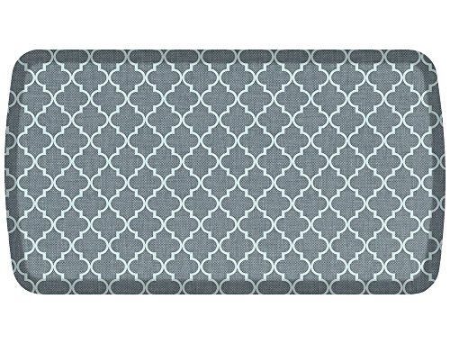 GelPro Elite Premier Anti-Fatigue Kitchen Comfort Floor Mat, 20x36'', Lattice Mineral Grey Stain Resistant Surface with therapeutic gel and energy-return foam for health & wellness by GelPro