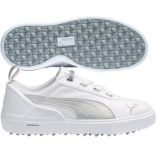 6094f2b1c6c PUMA Monolite Mini Junior Golf Shoes White Silver Metallic (4)