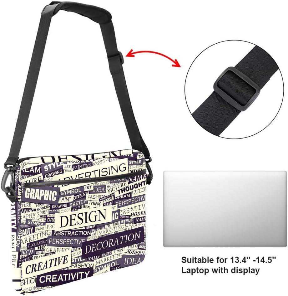 Laptop Bag Satchel Tablet Sleeve Bussiness Shoulder Bag Document Handbag Briefcase 15x5.4 Inch Creative Advertising Words