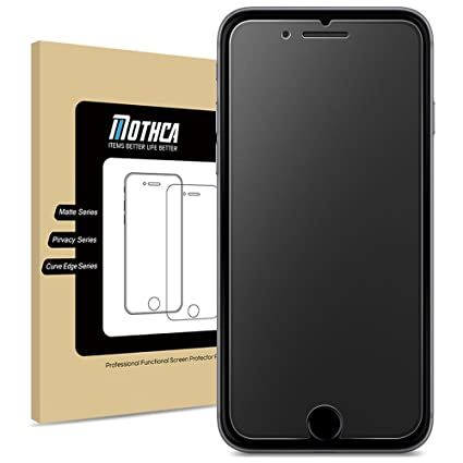 size 40 1dfaa 745ac Mothca Matte Screen Protector Compatible with iPhone 6 6s 7 8 Anti-Glare &  Anti-Fingerprint 9H HD Clear Tempered Glass Film Smooth as Silk