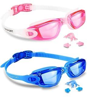 e08f2a0118 Amazon.com   Aguaphile Mirrored Swim Goggles Soft and Comfortable ...