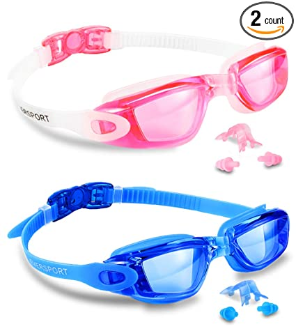 Original Waterproof Anti-fog Glasses Uv Protection Hd Swimming Goggles Eyewear 5 Color Bathroom Fixtures