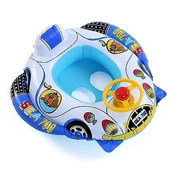 CLE DE TOUS - Flotador para Niño Niña Bebé Forma de coche Natación para 15-30kg Dibujo Otaria Color Amarrillo: Amazon.es: Deportes y aire libre
