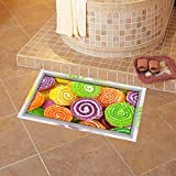 3D/Slip Fit posters/bricks on the ground/Floor waterproof paste/extra Living room/bedroom/passageways/Hyun Off/Self-adhesive/trim fit (5890cm)