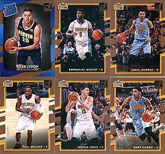 finest selection f2b66 defb3 Amazon.com: 2017-18 Donruss Basketball Denver Nuggets Team ...