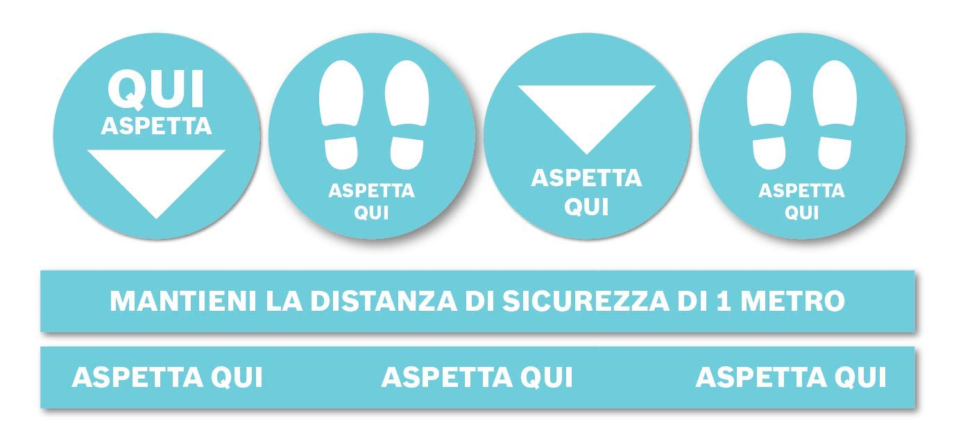 Adesivi per pavimento Kit Distanziamento Sociale 001