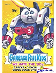 2018 Topps Garbage Pail Kids Series 1 WE HATE THE '80's EXCLUSIVE Factory Sealed Value Box with Special GROSS BEAR BONUS STICKERS! Look for Autograph,Sketch Cards & Printing Plates! Brand New! WOWZZER