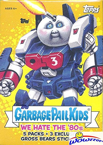 2018 Topps Garbage Pail Kids Series 1 WE HATE THE '80's EXCLUSIVE Factory Sealed Value Box with Special GROSS BEAR BONUS STICKERS! Look for Autograph,Sketch Cards & Printing Plates! Brand ()