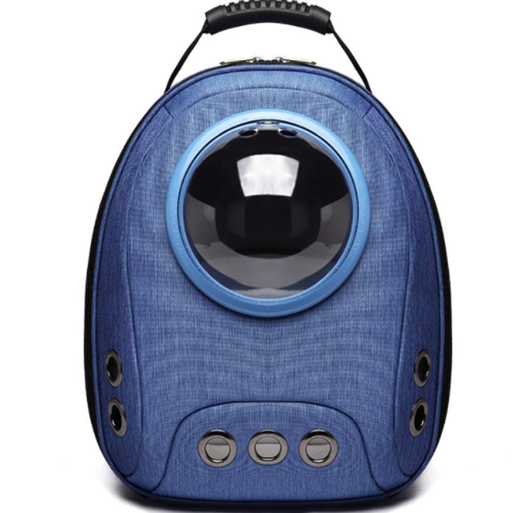 Darkbluee Breathable Capsule Portable Pet Backpack with Multiple Air Holes Waterproof Lightweight Bag for Cats Petite Dogs and Small Animals