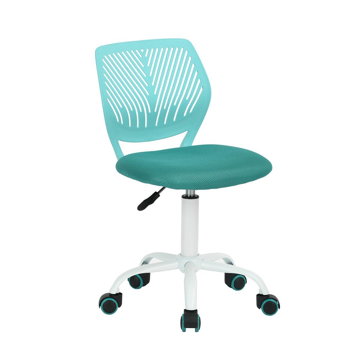 Carnation - Kindersitz Bürostuhl für Kinder aus Stoff Dactylo aus Stoff Verstellbar mit Rollen grün - türkis