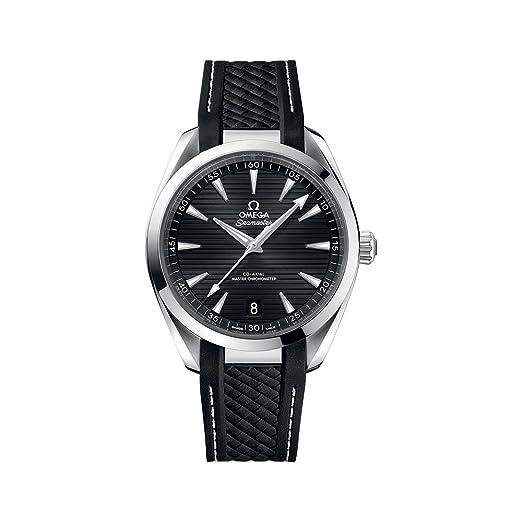 Omega Seamaster Aqua Terra Reloj de goma para hombre, esfera negra, automático, 220.12.41.21.01.001: Amazon.es: Relojes