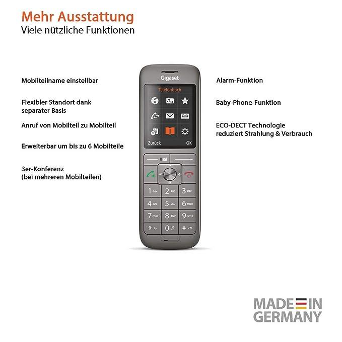 Gigaset teléfono adicional CL660HX Duo antracita (incl ...