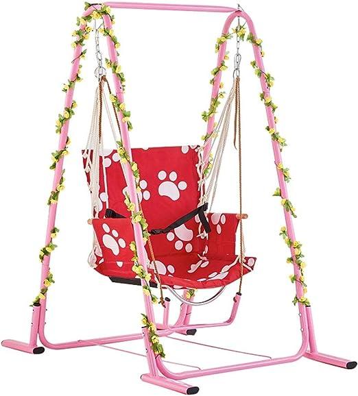 QQET-L Columpio de balcón, multifunción Rosa para Adultos para niños Silla Colgante Columpio jardín Exterior portátil hogar Columpio (Tamaño : 140 * 95 * 160CM): Amazon.es: Hogar