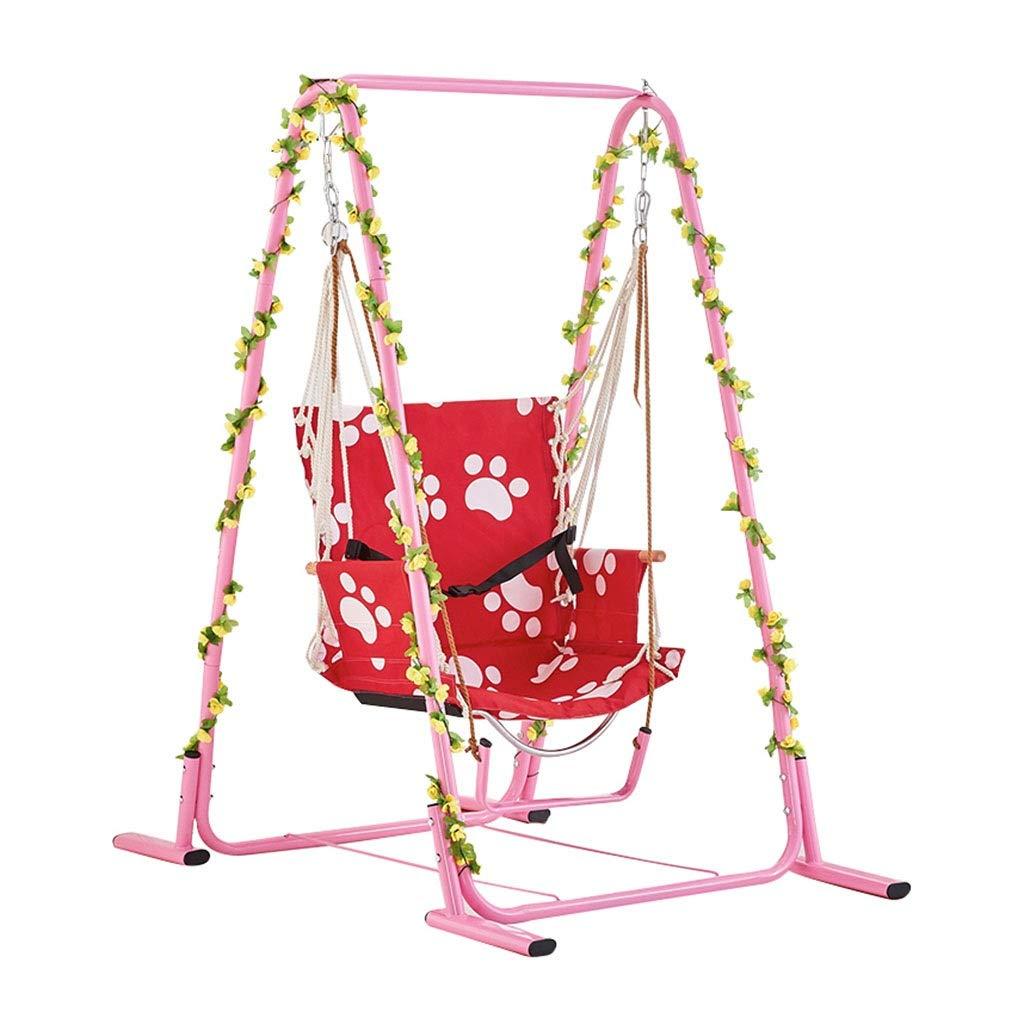 バルコニースイング、多機能ピンク子供大人クレードル吊り椅子スイング屋内屋外ガーデンポータブル家庭用スイング (サイズ さいず : 140*95*160CM) B07PQDCC7J  140*95*160CM