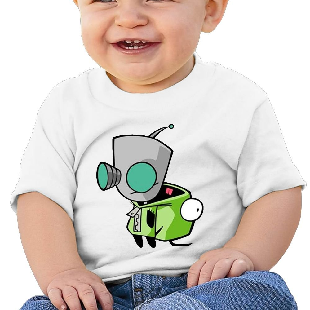 6-24 Month Baby T-Shirt Invader Zim Gir Doom Logo Personalized Fashion Customization White