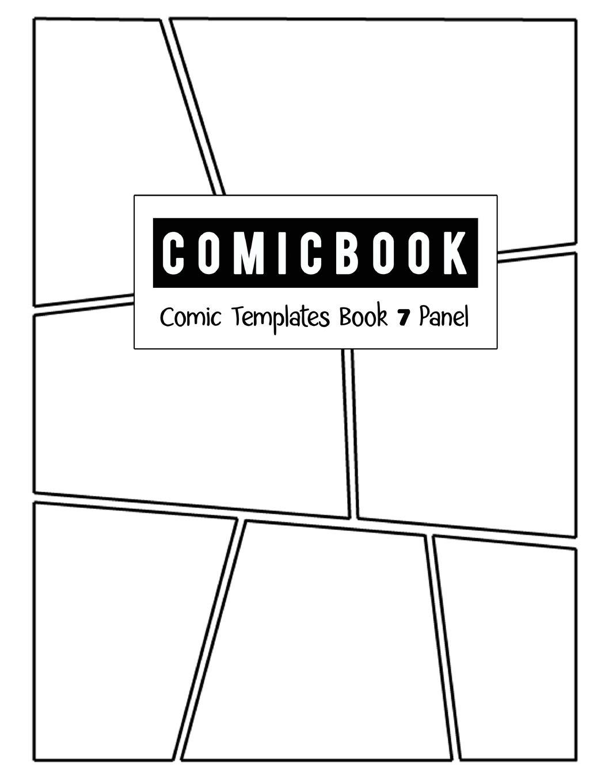 Comic Book 7 Panel Templates Comic Blank Book Panel Strip