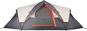 Mobihome 6 Person Tent Family Camping Quick Setup, Instant Extended Pop Up Dome Tents Outdoor, with Water-Resistant Rainfly and Mesh Roofs & Door & Windows - 13.5' x 7'