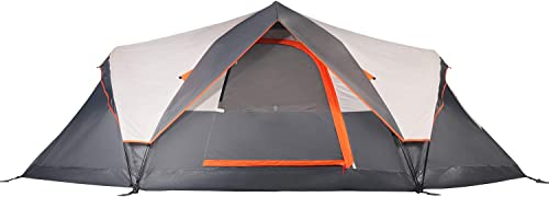Mobihome 6 Person Tent Family Camping Quick Setup, Instant Extended Pop Up Dome Tents Outdoor, with Water-Resistant Rainfly and Mesh Roofs Door Windows – 13.5 x 7