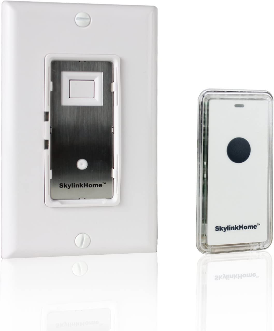 SkylinkHome WE-318 In-WallON/OFF Lighting Switch Receiver with Wireless Snap On Transmitter for Home Automation and Control (1000 Watts)