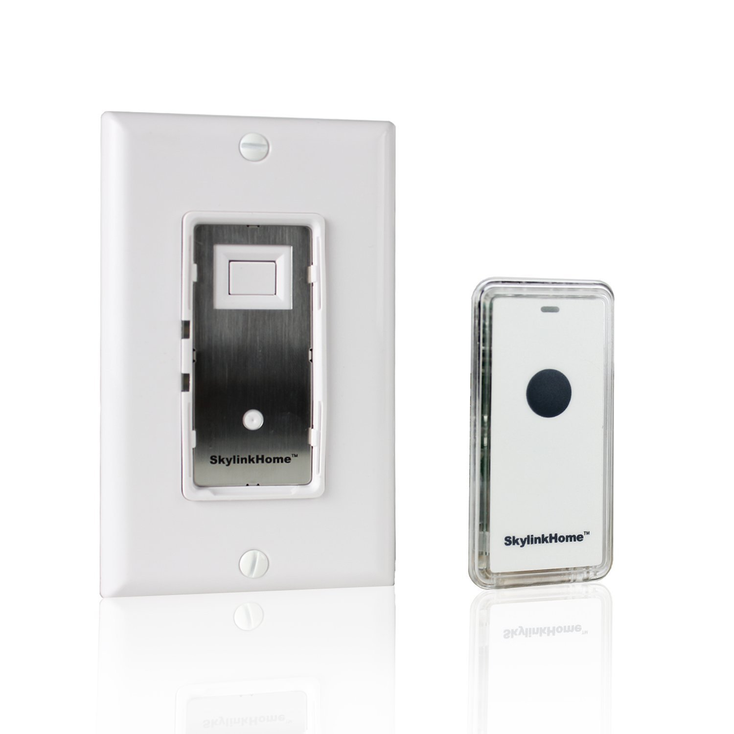 SkylinkHome WE-318 In-Wall  ON/OFF Lighting Switch Receiver with Wireless Snap On Transmitter for Home Automation and Control (1000 Watts) by Skylink