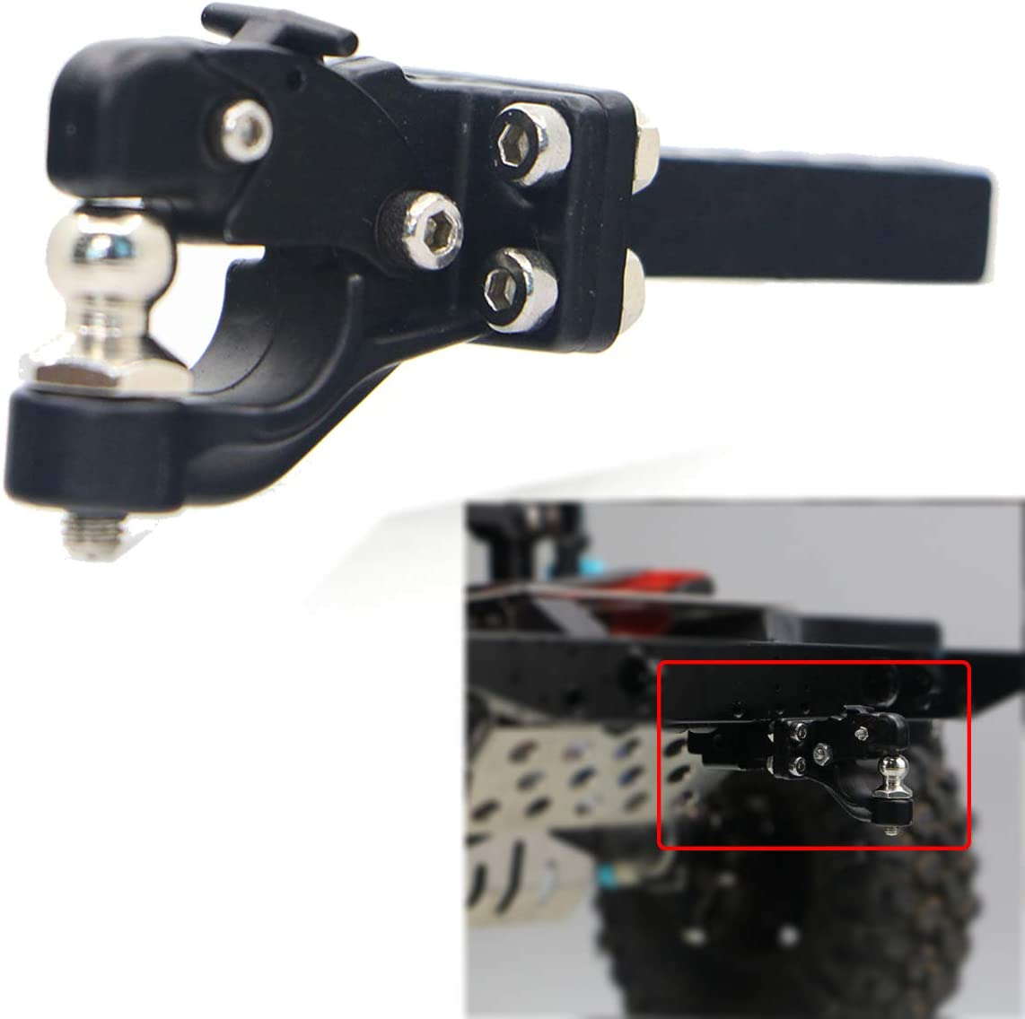 RC Trailer Hook 1//10 Metal Towing Hitch Shackles Trailer Hook for D90 RC SCX10 CC01