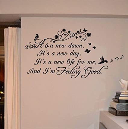 Amazoncom Xiloda Quotes Vinyl Wall Art Decals Saying Words