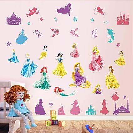 Amazon.com: decalmile Princess Wall Stickers Castle Fairy Girls Wall ...