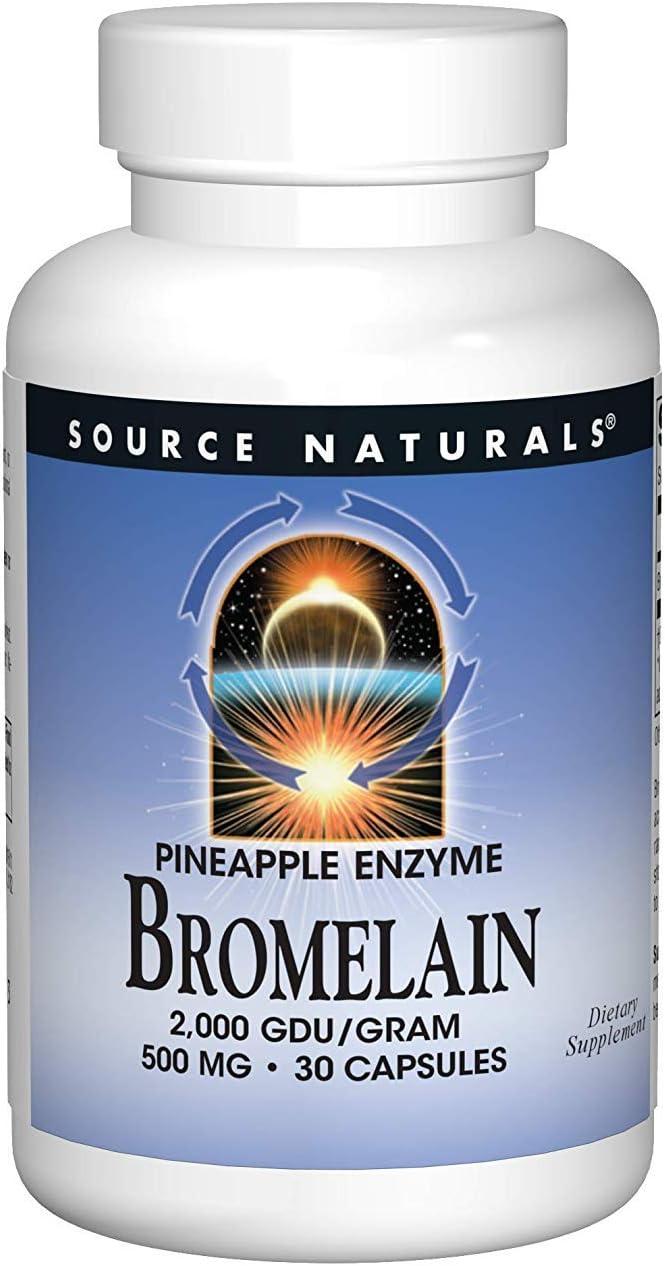 Source Naturals - Bromelain 2000 Gdu, 500mg, 30 capsules: Health & Personal Care