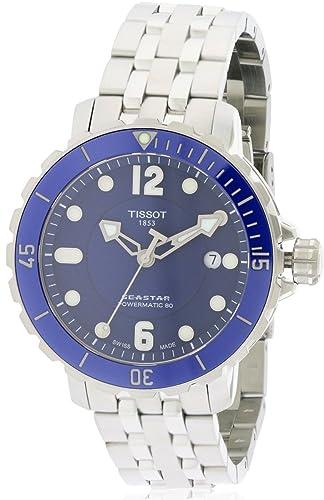 69dd1490188 Tissot T-Sport Seastar 1000 Esfera Azul Reloj Automático Hombre  t0664071104702  Tissot  Amazon.es  Relojes