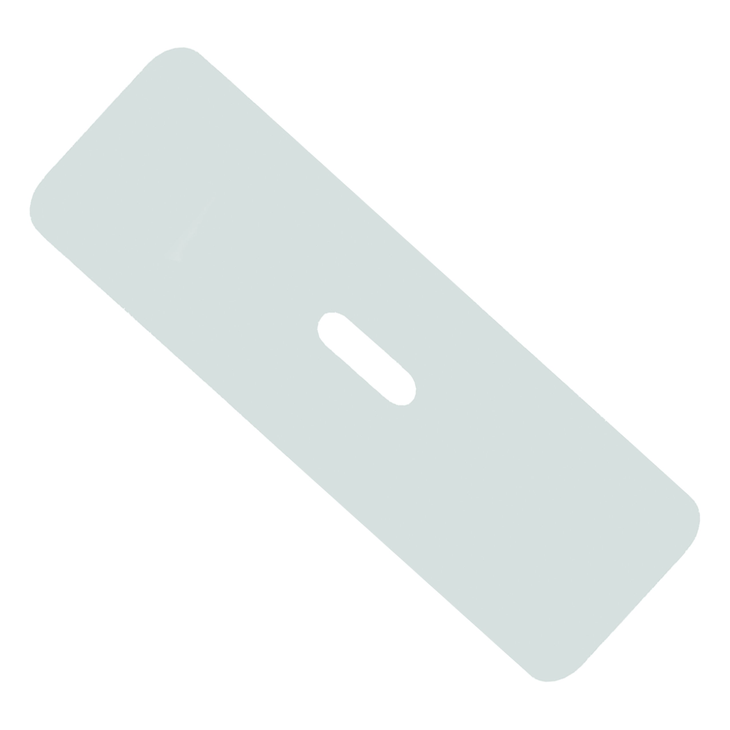 Rehabilitation Advantage Rehabilitation Advantage White high-Density Poly Plastic Transfer Board 25'' Long, Hand Hole, 4.4 Pound