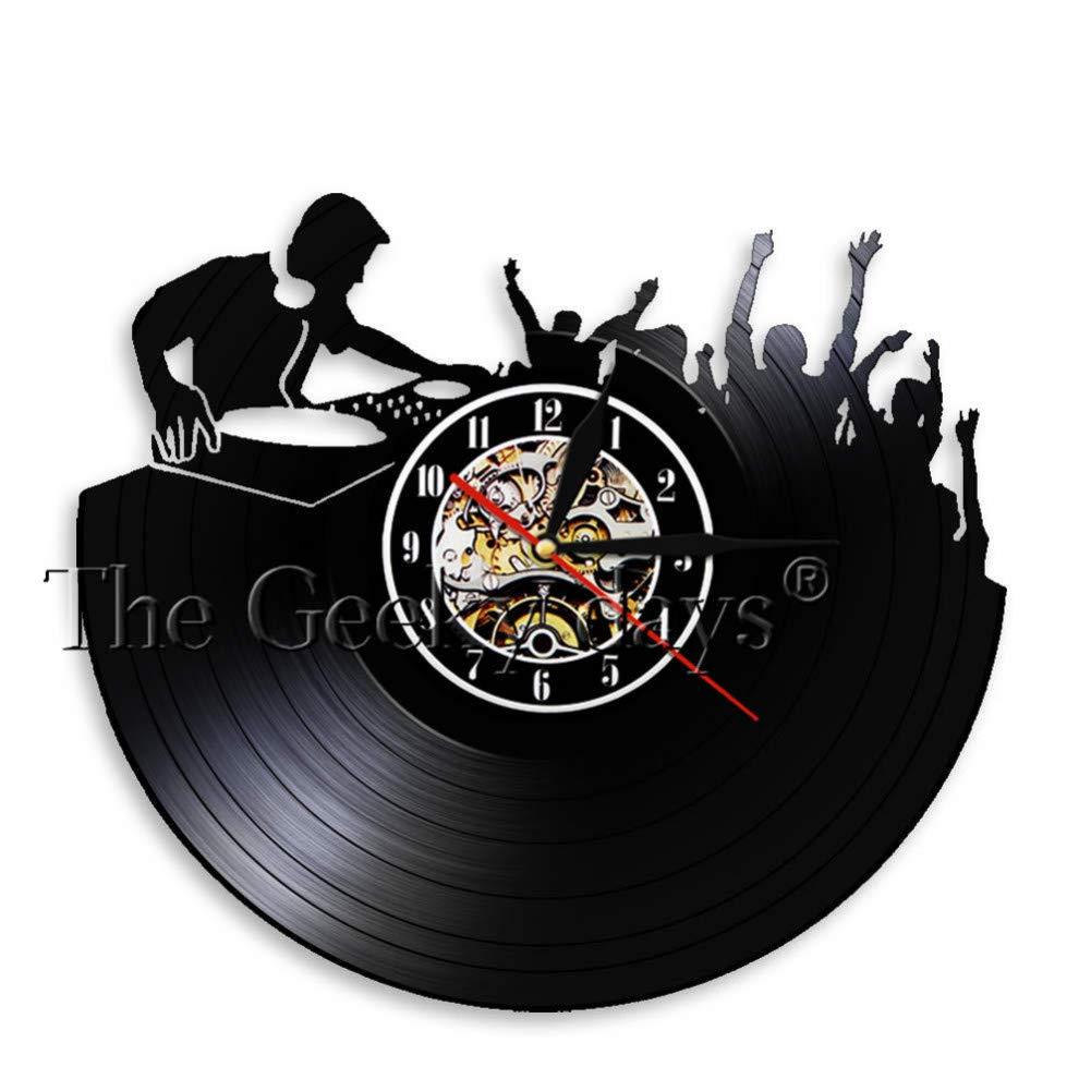 SSCLOCK Tocadiscos Hip Hop Reloj de Pared Night Club Music Studio ...